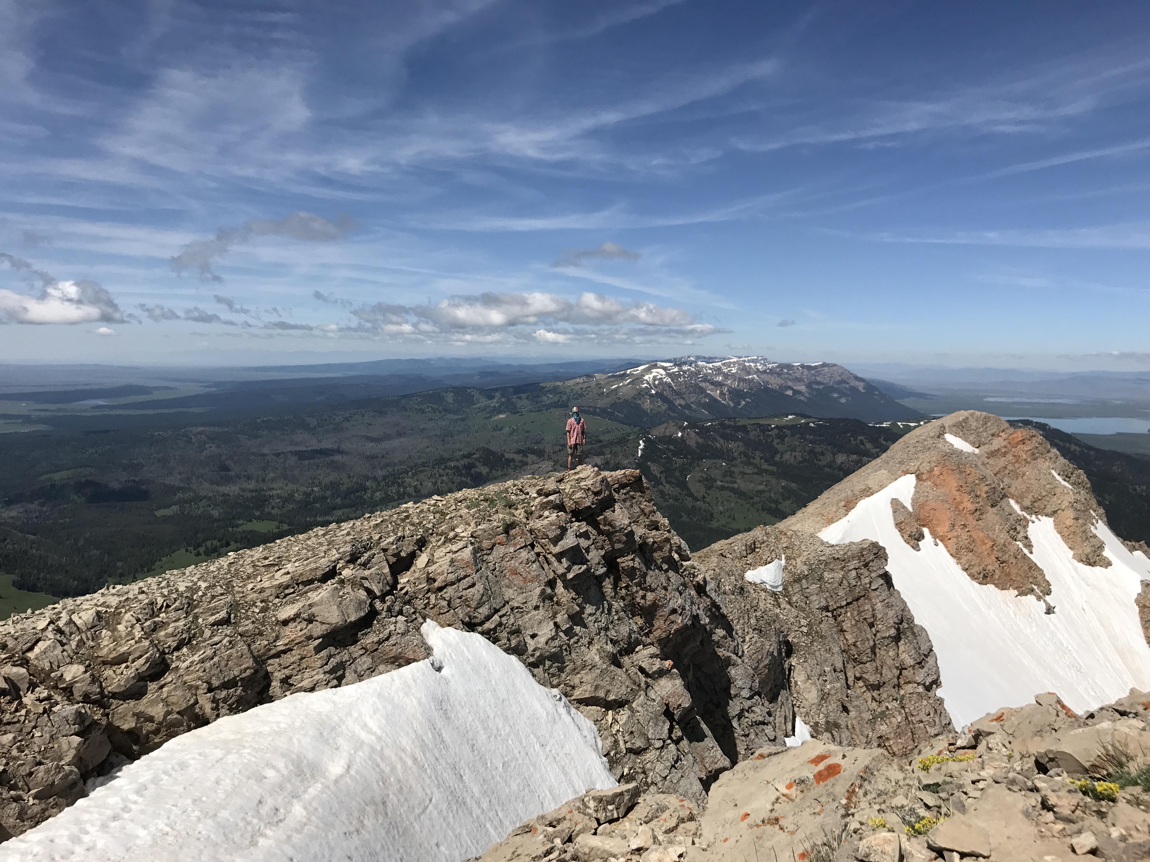 Centennial Mountains from highest peak Mount Jefferson