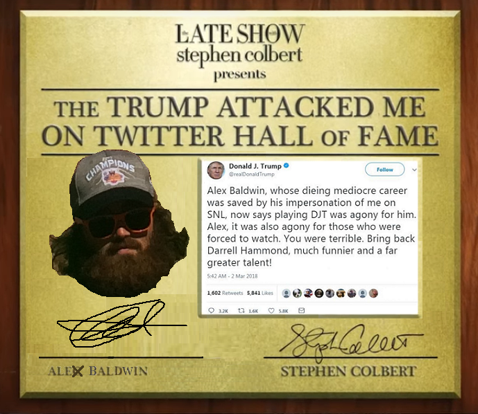 Trump Attacked Me on Twitter Hall of Fame